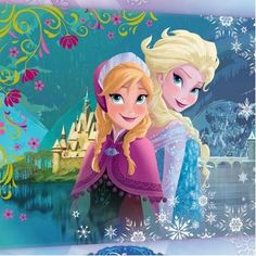 Quadro tela Frozen Anna e Elsa - Giochi - Giocattoli
