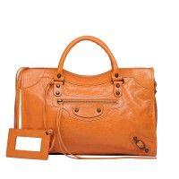 Balenciaga Tangerine Classic City Bag  #balenciaga #handbags