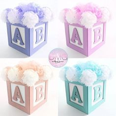 Baby Shower Centerpieces – Standout With Creative Baby Shower Decorations Abc Baby Shower, Baby Shower Deco, Fiesta Baby Shower, Baby Shower Purple, Shower Bebe, Baby Shower Princess, Baby Shower Gender Reveal, Baby Shower Favors, Baby Shower Parties