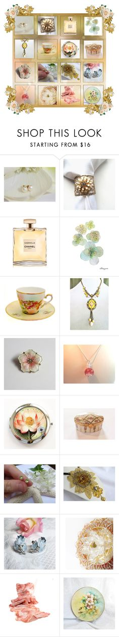 """""""Girly Gifts for Her"""" by anna-ragland ❤ liked on Polyvore featuring Chanel, Aksel, Trifari and vintage"""