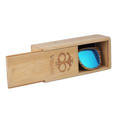 72dfc8a299 Gift Box Custom Logo Sliding Hard Natural Bamboo Wooden Sunglasses Case