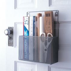 Silver Pantry Caddies - A great way to organize the pantry