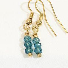 Dainty London Blue Topaz Earrings