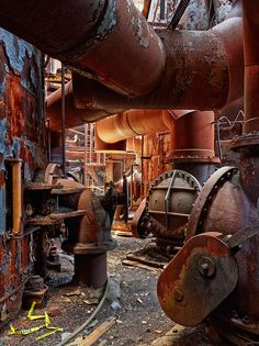 The abandoned Carrie Furnaces in Rankin, PA.