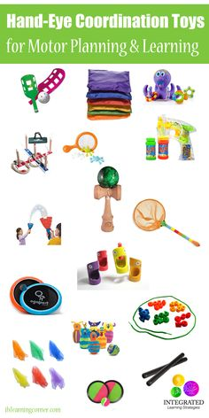 Hand-eye Coordination Toys for Better Motor Planning, Executive Functioning and Learning Development - Integrated Learning Strategies Sensory Toys, Sensory Activities, Therapy Activities, Infant Activities, Learning Activities, Sensory Motor, Learning Tips, Kids Learning, Fine Motor Activities For Kids