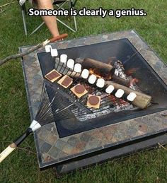 a rake to make s'mores! #genius