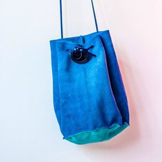 Make a Simple Drawstring Leather Bag
