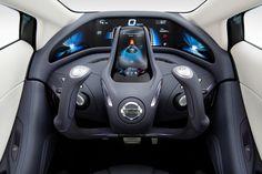 Nissan Landglider concept car dashboard.