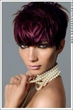 Coupe courte pour femme : i want this color