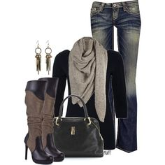 army boots/navy shirt