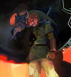 The Legend of Zelda Twilight Princess - Midna and Link. The Legend Of Zelda, Twilight Princess Midna, Video Game Art, Video Games, Wind Waker, Link Zelda, Breath Of The Wild, Super Smash Bros, Manga