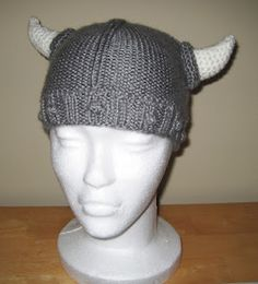 Viking Hat Pattern, Minus Horn Pattern (Free Pattern) ... Wait, what fun is this without the horns?