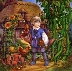 Carol Lawson Painting - Jack And The Beanstalk By Carol Lawson