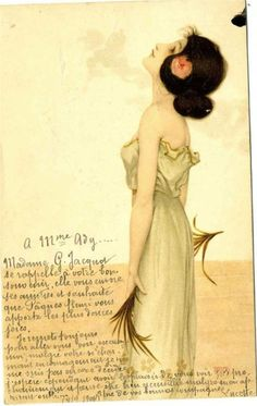 Page: Girls with flowers at feet  Artist: Raphael Kirchner  Completion Date: 1902  Style: Art Nouveau (Modern)