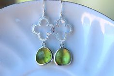 Etsy listing https://www.etsy.com/listing/187324232/peridot-earrings-apple-green-silver