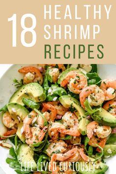 Low Calorie Shrimp Recipe, Calories Shrimp, Shrimp Salad Recipes, Shrimp Recipes For Dinner, Shrimp Recipes Easy, Shellfish Recipes, Clean Eating Recipes, Healthy Eating, Cooking Recipes