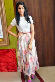 Lavanya Tripathi in long skirt and white top