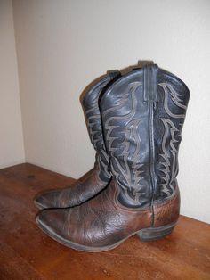 Men's Vintage TONY LAMA Cowboy BOOTS 95 D by ATELIERVINTAGESHOP, $45.00