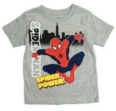 Toddler Boys t Shirt Short Sleeve Children Character Marvel Spiderman 2t 3t 4t   #MarvelUltimateSpiderman #EverydayBirthday