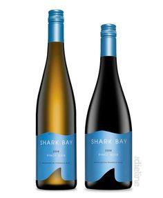 """Shark Bay"" wine label"