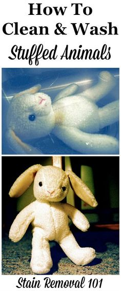 How to clean and wash stuffed animals both in the washing machine and also hand washing {from Stain Removal 101}