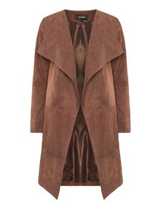 Turn-down collar suede jacket by Patago. Shop now at navabi.