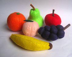 Felt food fruit set eco friendly.