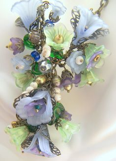 Diane Rose Victorian Floral Necklace Made to Order by LunaEssence, $165.00  Still one of my favs! Looks like a painting :) art for your neck!!