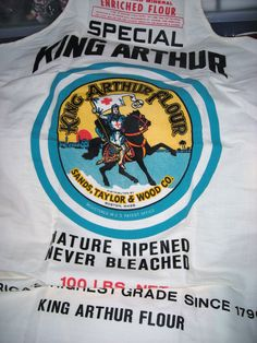 Made of old fashioned flour sack material Full length Neck and waist ties Never Used NIce collectible Cotton King Arthur Brand Flour Nice Graphics Flour Sacks, King Arthur Flour, Aprons, Scarfs, Doilies, Boho, Sewing, Etsy, Vintage