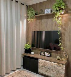 Living Room Decor Cozy, Home Decor Bedroom, Home Room Design, House Design, Living Room Tv Unit Designs, Room Partition Designs, Studio Apartment Decorating, House Plants Decor, House Rooms