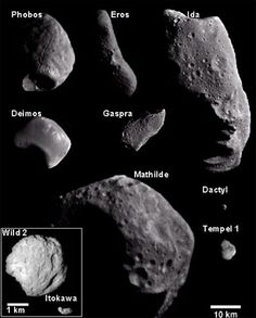 more real asteroids, and small moons (captured asteroids)