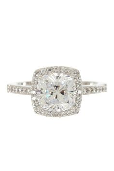 square engagement rings are pretty...