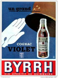 Original-Anzeige /Publicité 1957 - (en français) BYRRH - COGNAC VIOLET - ca. 200 x 270 mm