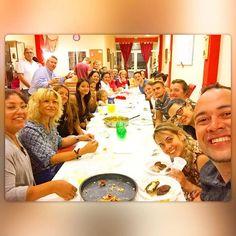 Noite de Comunhão  com os Irmãos da Igreja Batista de Mijas - um Jantar Maravilhoso - Compartilhando o Amor do Pai uns com os outros.