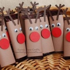 christmas craft using toilet paper roll - - Yahoo Image Search Results