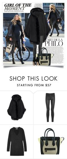 """""""Blake Lively Maternity Style"""" by nora-nazeer ❤ liked on Polyvore featuring J Brand, Duffy, CÉLINE and Gianvito Rossi"""