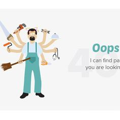 #illustration #404 #errorpage #404error #404page #vector #vectorillustration #website #webdesigner #websitedesigner #servant #workforce #homeservices #onlineservices #electrician #carpenter #cleaningservices #painter  #doctor #plumber #baagdi