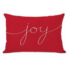 One Bella Casa Holiday Joy Mix and Match Lumbar Pillow & Reviews | Wayfair
