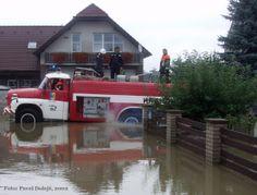 2002, Stod, povodeň, hasiči, foto Pavel Dolejš.