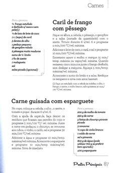 234 receitas para robôs de cozinha (2) Toddler Meals, Coco, Eat, Cooking, Kids, Recipes, Sweet Recipes, White Meat, Illustrated Recipe