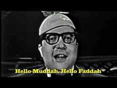 Now with Lyrics so you can Sing Along! Hello Muddah, Hello Fadduh (Camp Granada Song), Allan Sherman, on Kraft Music Hall (aka The Perry Como Show) 1963 Get . Camp Songs, Good Cartoons, Perry Como, Song Lyrics, Quotes From Songs Lyrics, Old Tv Shows, Yesterday And Today, My Childhood Memories, Life Humor