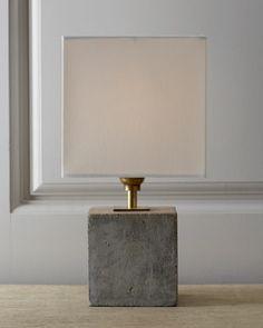210 - H6JLQ Regina-Andrew Design Concrete Cube Mini Lamp