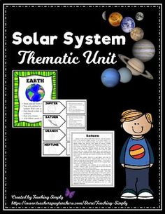 Explore our solar system with this thematic unit that contains full color fact posters, reading passages with comprehension questions, interactive notebook activity, task cards and so much more! Solar System Projects, Our Solar System, Text To Self Connection, Text Dependent Questions, Vocabulary Practice, Information Poster, Thematic Units, Reading Passages, Elementary Science