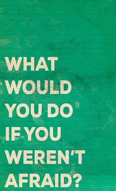 What would you do if you weren't afraid? Quote