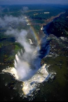 Iguazu - the most impressive waterfalls of the world on the border of Argentine and Brazil