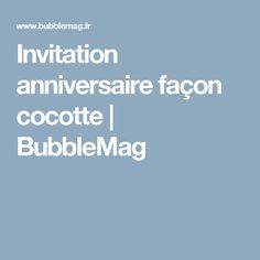 Invitation anniversaire façon cocotte   BubbleMag Facon, Bubble, Invitation, Dutch Oven, Birthday, Bricolage, Invitations, Reception Card