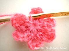 幼稚園児のお弁当-花びら6枚*お花モチーフの編み方