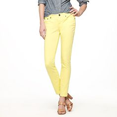 Yellow jeans, J. Crew.