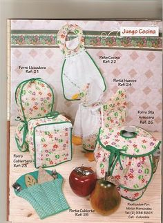 revistas de manualidades gratis Sewing Patterns Free, Free Pattern, All Covers, Ideas Para, Couture, Apron, Kitchen Decor, Projects To Try, Lunch Box