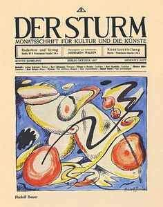 DER STURM: One of two leading Expressionist journals published in Berlin. Covering the expressionism movement from 2010. Der Sturm published poetry and prose from contributors such as Peter Altenberg, Max Brod, Richard Dehmel, Alfred Döblin, Anatole France, Knut Hamsun, Arno Holz, Karl Kraus, Selma Lagerlöf, Adolf Loos, Heinrich Mann, Paul Scheerbart, and René Schickele, and writings, drawings, and prints by such artists as Kokoschka, Kandinsky, and members of Der blaue Reiter.